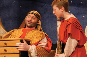 photo from a production of 'Amahl and the Night Visitors'