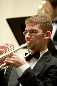 photo of trumpet student performing